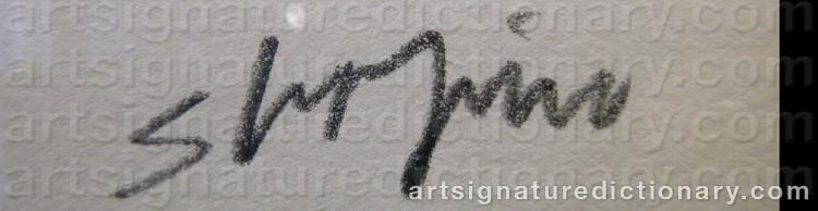 Signature by Joel SHAPIRO