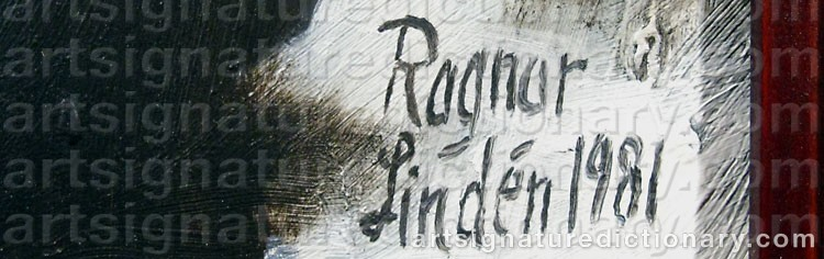 Signature by Ragnar LINDÉN