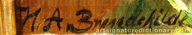 Signature by Hans Andersen BRENDEKILDE