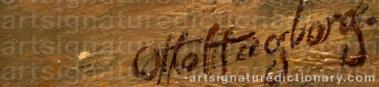 Signature by Otto HAGBORG