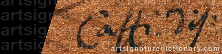Signature by Cavaliere Ippolito CAFFI