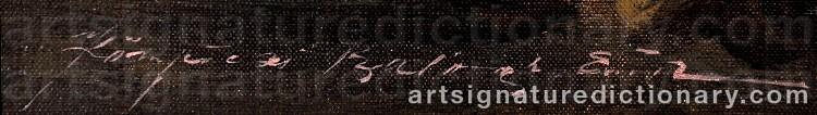 Signature by Endre Kompoczy BALOGH