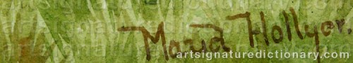 Signature by: HOLLYER, Maud