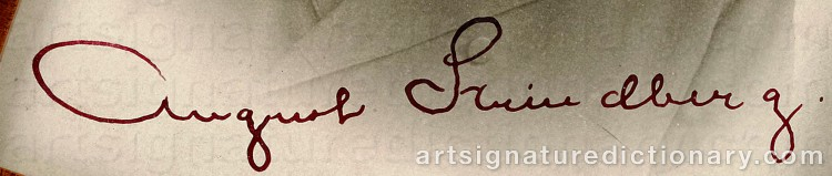 Signature by August STRINDBERG