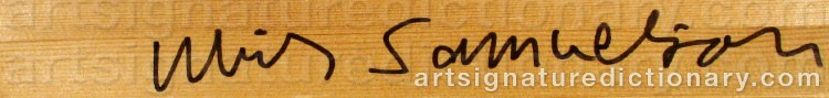 Signature by Ulrik SAMUELSON