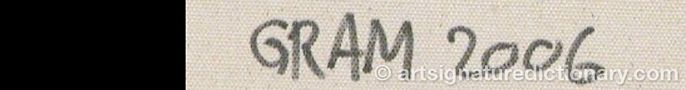 Signature by Svend GRAM