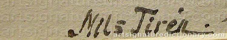 Signature by Nils TIRÉN