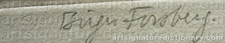 Signature by Birger FORSBERG