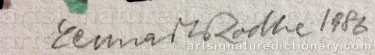 Signature by Lennart RODHE