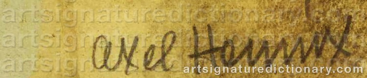 Signature by Axel HENNIX