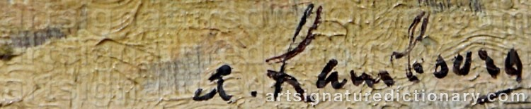 Signature by André HAMBOURG