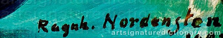 Signature by Ragnhild NORDENSTEN