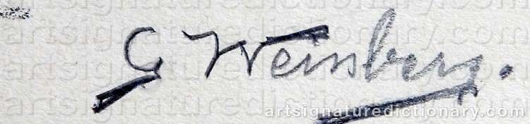 Signature by Gunnar WEINBERG