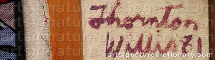 Signature by Thornton WILLIS