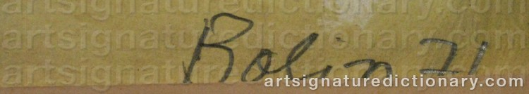 Signature by Gustave BOLIN