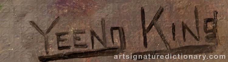 Signature by Henry John YEEND KING