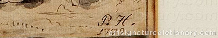 Signature by Pehr HÖRBERG