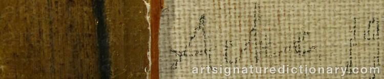 Signature by Johan Axel Gustaf 'Jag Acke' ACKE