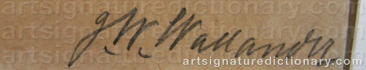 Signature by Josef Wilhelm WALLANDER