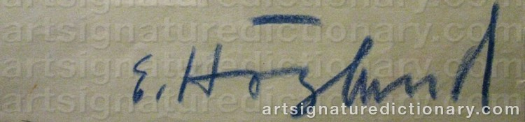 Signature by Erik HÖGLUND