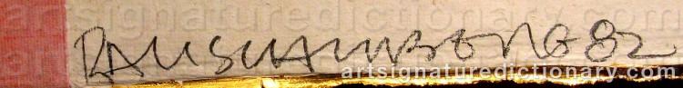 Signature by Robert RAUSCHENBERG