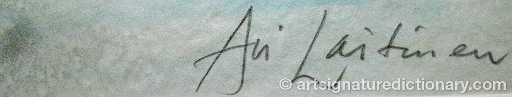 Signature by Ari LAITINEN