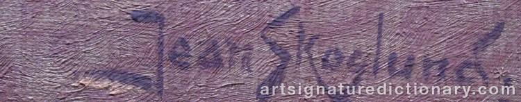 Signature by Jean SKOGLUND