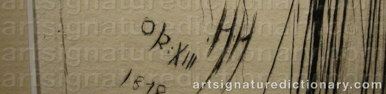 Signature by Hubert Von HERKOMER