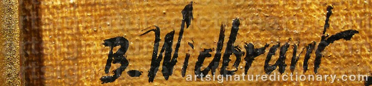 Signature by Bertil WIDBRANT