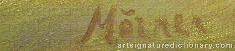 Forged signature of Stellan MÖRNER