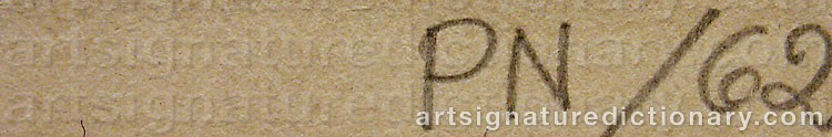 Signature by Palle NIELSEN