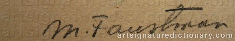 Signature by Mollie FAUSTMAN