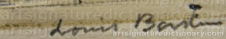 Signature by Louis BASTIN