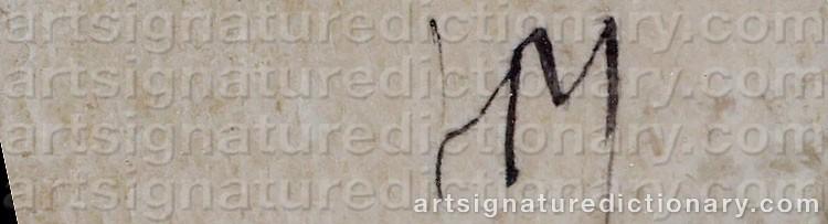 Signature by Henri MICHAUX