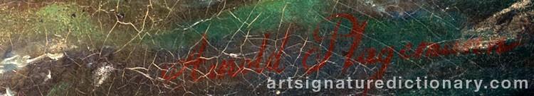 Signature by Arnold Abraham PLAGEMANN