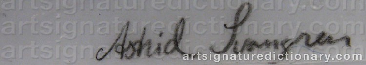 Signature by Astrid SVANGREN