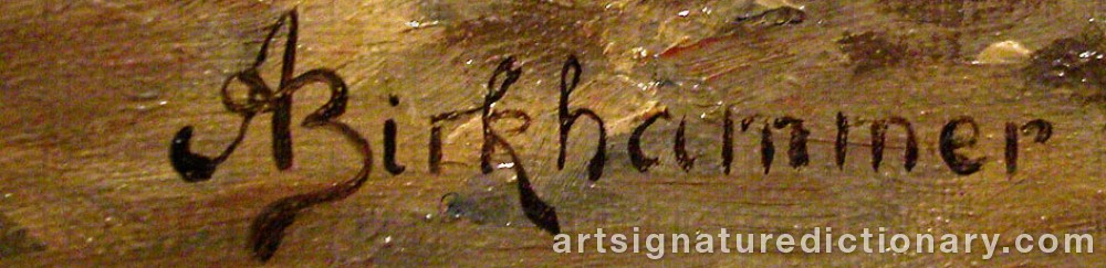 Signature by Axel BIRKHAMMER