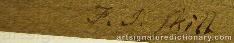 Signature by Frederick John SKILL
