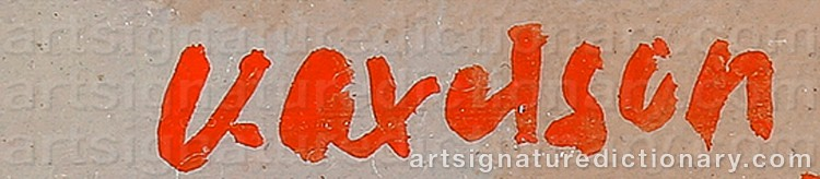 Signature by Victor AXELSON