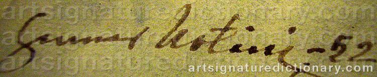 Signature by Gunnar NOTINI