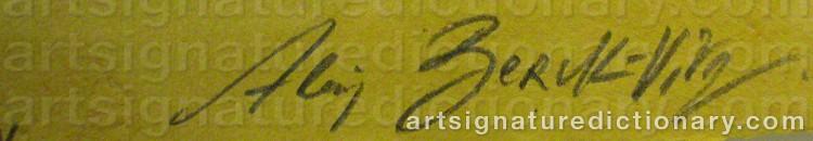 Signature by Alain BERK-VITZ