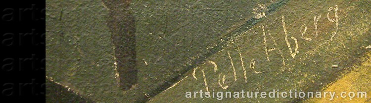 Forged signature of Pelle ÅBERG