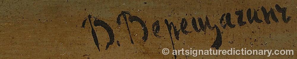 Signature by Vasili Petrovich VERESCHAGIN