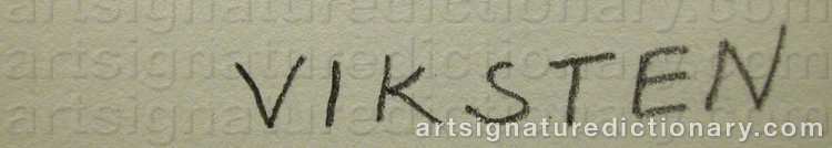 Signature by Hans VIKSTEN
