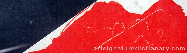 Signature by Robert MOTHERWELL