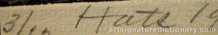 Signature by Felix HATZ