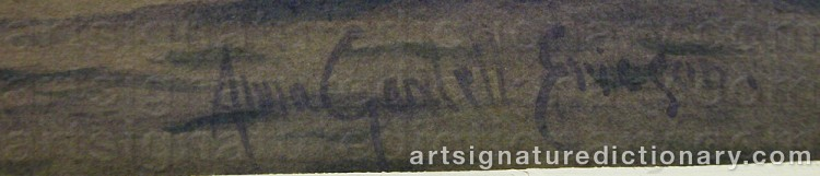 Forged signature of Anna GARDELL-ERICSON