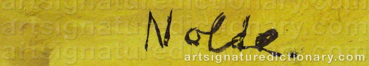 Forged signature of Emil NOLDE