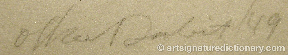 Signature by Oskar DALVIT