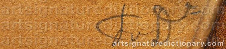 Signature by Fritz Von DARDEL